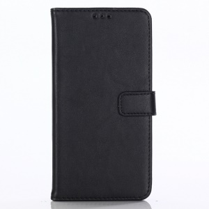 Crazy Horse Texture Retro Style Leather Wallet Case for Asus Zenfone 5Z ZS620KL - Black