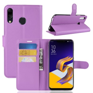 Litchi Skin Wallet Leather Flip Stand Mobile Cover for Asus Zenfone 5 ZE620KL - Purple