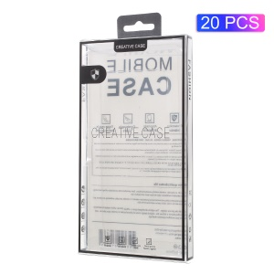 20pcs/Lot Retail Plastic Packaging Box for iPhone 8 / 7 Cases, Size: 175 x 95 x 15mm - Black / Transparent