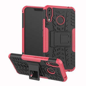 Anti-slip PC + Silicone Hybrid Cell Phone Case with Kickstand for Asus Zenfone 5Z ZS620KL / 5 ZE620KL - Rose