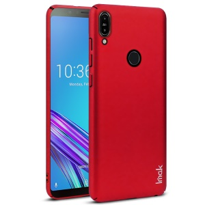 IMAK Jazz Skin Feel Hard PC Shell Cover + Screen Protector Film for Asus Zenfone Max Pro (M1) ZB601KL / ZB602KL - Red