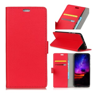 Wallet Leather Magnetic Case for Asus Zenfone Max Pro (M1) ZB601KL / ZB602KL - Red