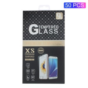 50Pcs/Lot Universal Flip Package Box for Tempered Glass Screen Guard Film, Size: 16.5 x 9cm - Style A