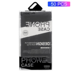 50PCS/Lot Plastic Packaging Phone Case Package Box for iPhone 8/7/6s/6 Case