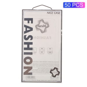 50pcs/Lot Fashion Nice Case Plastic Packaging Box for iPhone 8/7/6s/6 4.7 inch Cases, Size: 17x10.4x1.6cm