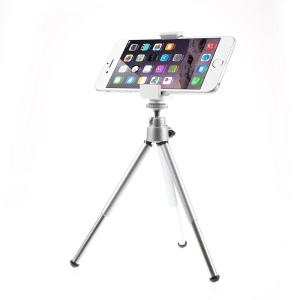 ASHUTB Adjustable Mini Tripod + Cellphone Holder Q for Smartphones, Holder Width: 20-140mm
