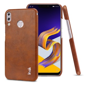 IMAK Ruiyi Series Leather Skin Plastic Phone Shell for Asus Zenfone 5Z ZS620KL / Zenfone 5 ZE620KL - Brown