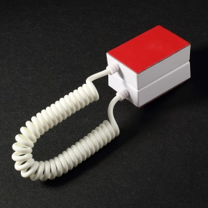 Square Anti-theft Security Mobile Phone Display Holder with 70cm Spring Cable