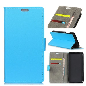 Magnetic Leather Stand Cover for Asus Zenfone Max (M2) ZB633KL - Blue