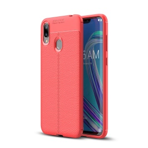 Litchi Grain TPU Protective Mobile Shell for Asus Zenfone Max (M2) ZB633KL - Red