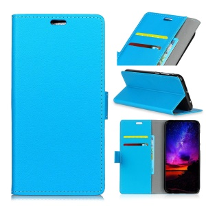 PU Leather Wallet Stand Mobile Shell for Asus Zenfone Max Pro (M2) ZB631KL - Blue
