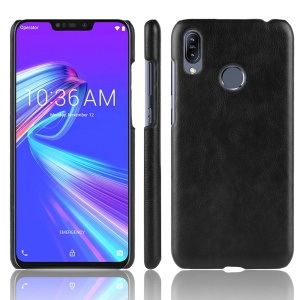 Litchi Texture PU Leather Coated Plastic Mobile Case for Asus Zenfone Max (M2) ZB633KL - Black
