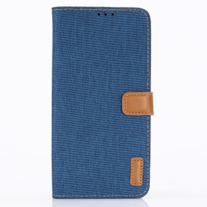 Oxford Cloth PU Leather Magnetic Wallet Cover for Asus ROG Phone (ZS600KL) - Baby Blue
