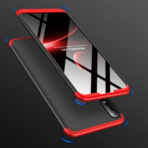 GKK Detachable 3-Piece Matte Hard Plastic Case for Asus Zenfone Max Pro (M2) ZB631KL - Red / Black