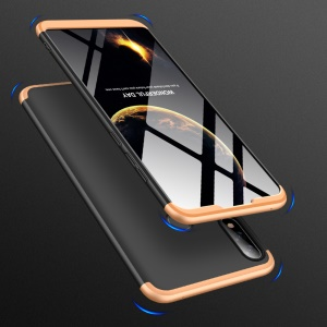 GKK Detachable 3-Piece Matte Hard Plastic Case for Asus Zenfone Max Pro (M2) ZB631KL - Gold / Black
