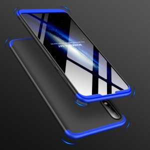 GKK Detachable 3-Piece Matte Hard Plastic Case for Asus Zenfone Max Pro (M2) ZB631KL - Blue / Black