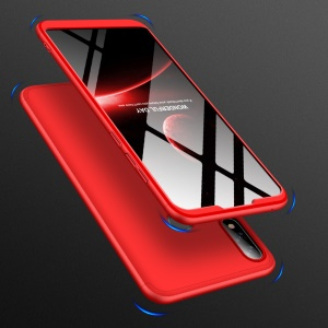 GKK Detachable 3-Piece Matte Hard Plastic Case for Asus Zenfone Max Pro (M2) ZB631KL - Red