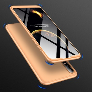 GKK Detachable 3-Piece Matte Hard Plastic Case for Asus Zenfone Max Pro (M2) ZB631KL - Gold