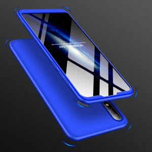 GKK Detachable 3-Piece Matte Hard Plastic Case for Asus Zenfone Max Pro (M2) ZB631KL - Blue