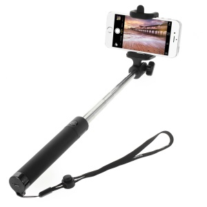 DISPHO Bluetooth Folded Handheld Self-portrait Monopod for iOS & Android iPhone Samsung etc - Black