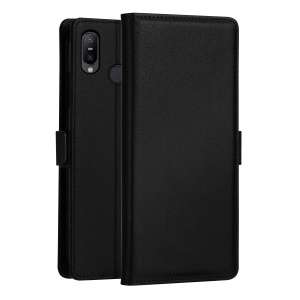 DZGOGO [Milo Series] PU Leather Wallet Case for Asus Zenfone Max Pro (M2) ZB631KL - Black