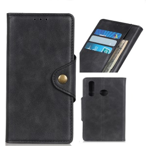 PU Leather Wallet Stand Mobile Case for Asus Zenfone Max Plus (M2) ZB634KL - Black