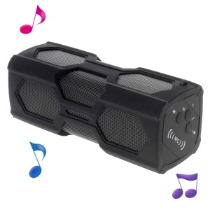 Waterproof 3D Surround Bluetooth Speaker with Power Bank/NFC/Aux - Black