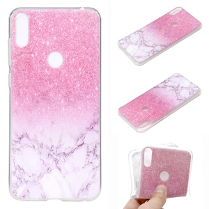 Pattern Printing Soft TPU Phone Case for Asus Zenfone 5 ZE620KL - Pink Glitter and Marble
