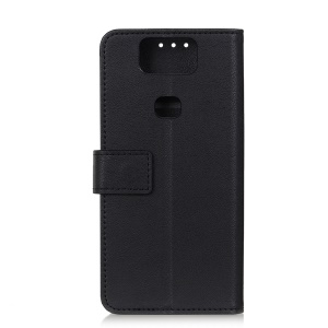 Wallet Leather Stand Case for Asus Zenfone 6 ZS630KL - Black