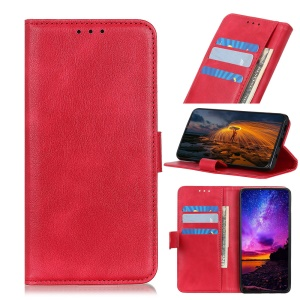Wallet Stand Leather Phone Case for Asus Zenfone 6 ZS630KL - Red