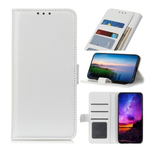 Crazy Horse Leather Wallet Phone Case for Asus Zenfone Max Plus (M2) ZB634KL - White
