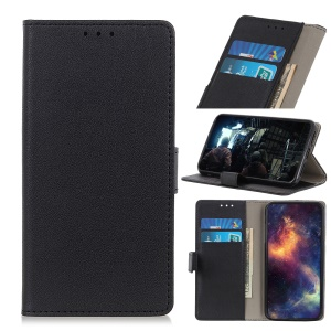 PU Leather Magnetic Stand Wallet Protective Case for Asus Zenfone Max Plus (M2) ZB634KL - Black