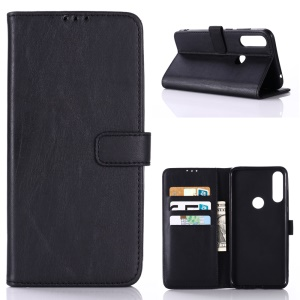 Crazy Horse Leather Wallet Stand Case for Asus Zenfone Max Plus (M2) ZB634KL - Black