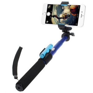 Blue ASHUTB KIT-S4 Bluetooth Self Timer Stick with Remote Shutter for Smartphone etc