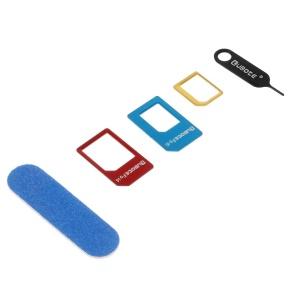 Metal Nano Micro Standard SIM Card Adapters Set with Eject Pin for iPhone 6/5s/5/4s/4