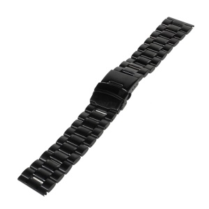 22mm Stainless Steel Watch Band Bracelet for Samsung Gear 2 R380 / Neo R381 / Live R382, LG G Watch W100 / R W110 Asus Zenwatch - Black