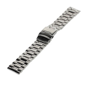 17.5cm Stainless Steel Watch Band Bracelet for Samsung Gear 2 R380 / Neo R381 / Live R382, LG G Watch W100 / R W110 Asus Zenwatch - Silver Color
