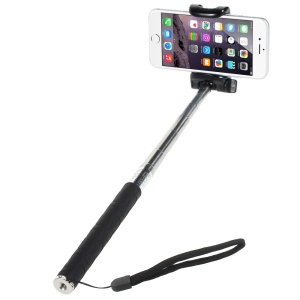 KJSTAR Z06-1 Extendable Handheld Selfie Monopod for iPhone 6 Plus Samsung Galaxy S6 Etc - Black
