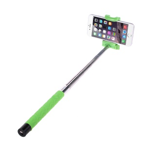 KJSTAR Z06-3 Bluetooth Selfie Stick Extendable Monopod for iPhone 6 Samsung Galaxy S6 Etc - Green