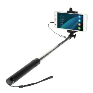 3.5mm Cable Control Self-portrait Monopod with Mount Holder for iPhone 6 / 6 Plus - Black