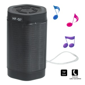 Q7 Hexagonal Prism Hands-free Bluetooth Speaker with Selfie Function Support TF Card / AUX-input - Black