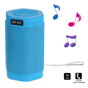 Q7 Hexagonal Prism Hands-free Bluetooth Speaker with Selfie Function Support TF Card / AUX-input - Blue