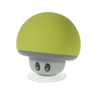 Mushroom Shape Bluetooth Speaker with Suction Holder Support Mic - Green