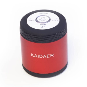 KAIDAER KD-06BT Portable Wireless Bluetooth Stereo Speaker Support FM - Red