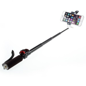 ASHUTB KIT-S6Mini Extendable Selfie Stick Monopod + Bluetooth Remote Shutter + Adjustable Holder for iPhone Samsung - Black