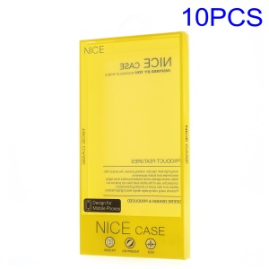 10pcs/Lot Plasitc Packing Box for iPhone Samsung Huawei HTC Phone Cases, Size: 182 x 90 x 15mm