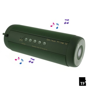 T2 Outdoor Hands-free Bluetooth Speaker with Flashlight Support TF Card FM Radio - Army Green