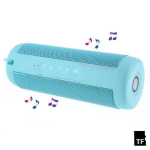 T2 Outdoor Hands-free Bluetooth Speaker with Flashlight Support TF Card FM Radio - Blue