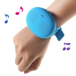 T1 Mini Outer Sports Detachable Wrist Bluetooth Speaker, Support Hands-free Call and TF Card - Blue