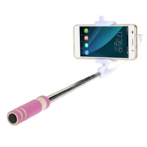 ZX-3S Mini Selfie Stick Monopod for iPhone Samsung Sony etc - Rose